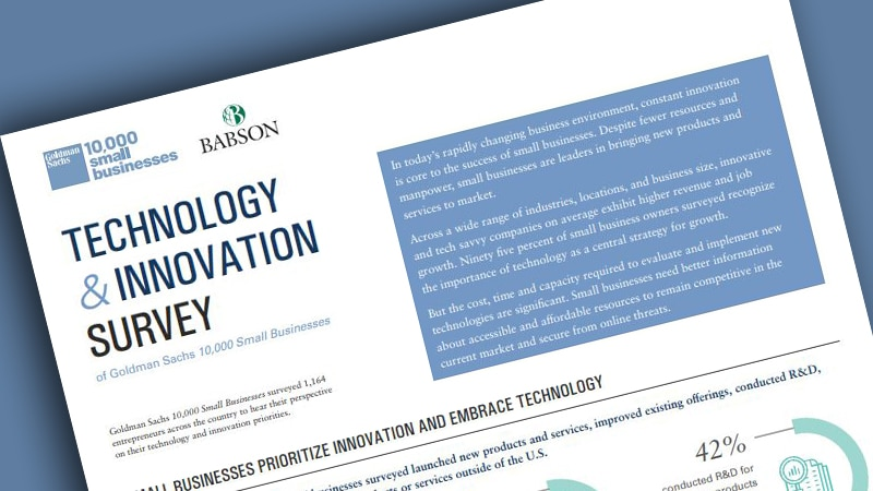 '10,000 Small Businesses' Technology & Innovation Survey