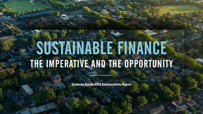 The Goldman Sachs 2019 Sustainability Report